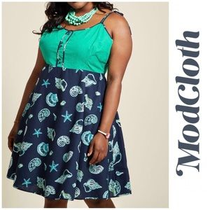 ModCloth Waving From the Waterfront Shell Dress 1X